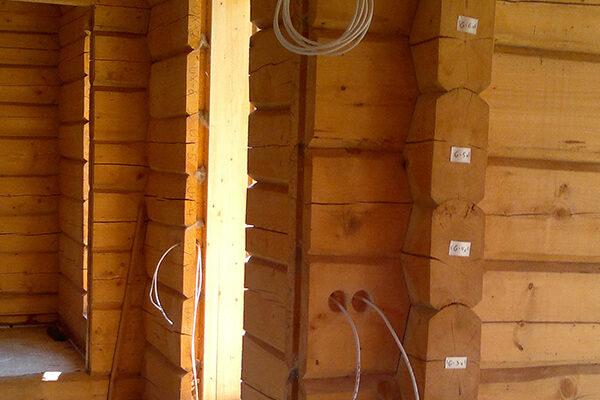Palkmaja - uusehitise elektritööd