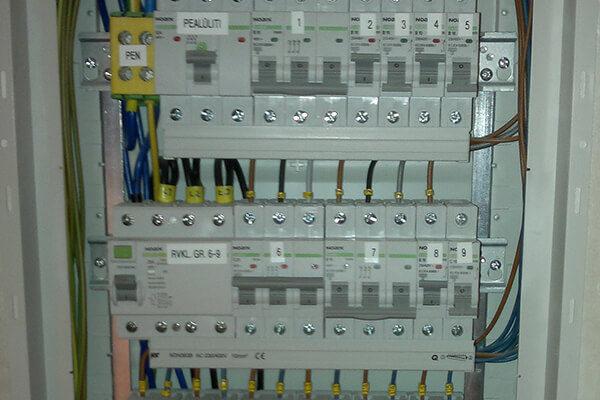 Uusehitise elektritööd - elektrikilp